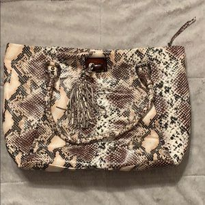 Elliot Lucca snake skin slouchy tote